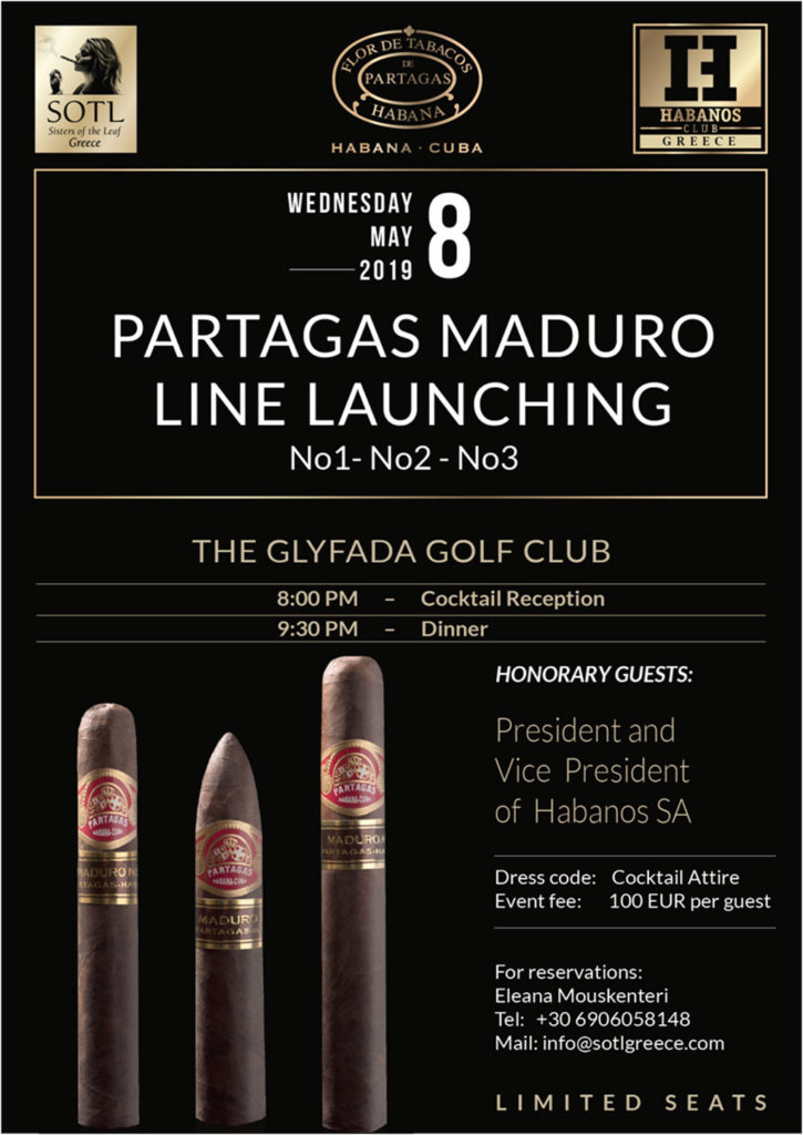 Partagas Maduro Line Launching in Greece - SOTL Greece